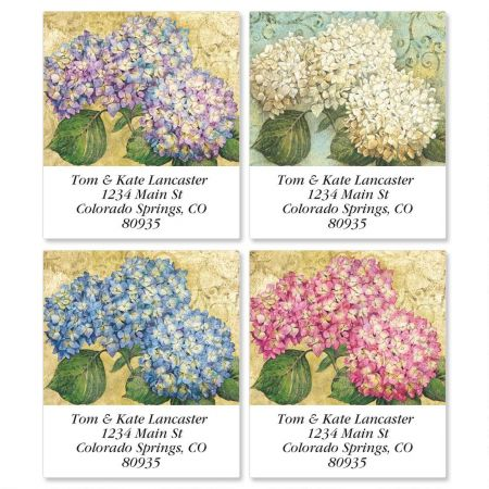 Hydrangea Garden Select Address Labels  (4 designs)