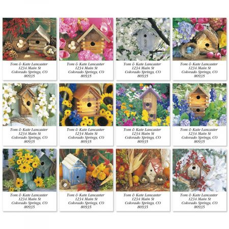 Seasonal Birdhouses Select Address Labels  (12 Designs)