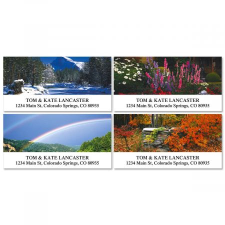 4 Seasons Deluxe Address Labels  (4 Designs)