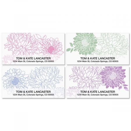 Flora Deluxe Address Labels  (4 designs)