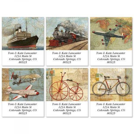 Vintage Travel USA Select Labels  (6 designs)