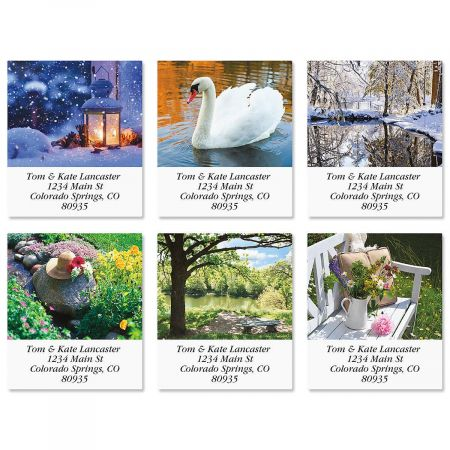 Quiet Pause Select Address Labels  (6 Designs)