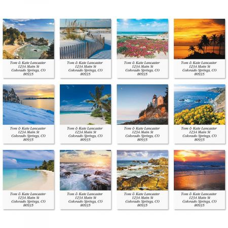 By The Sea Select Address Labels  (12 Designs)