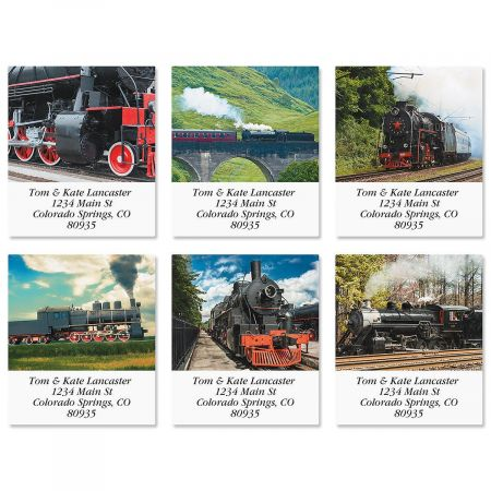 Trains Select Address Labels  (6 Designs)