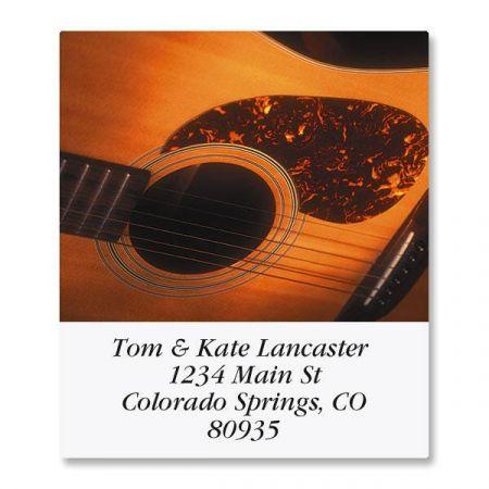 Guitars Select Address Labels  (12 Designs)