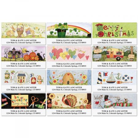 Home Grown Deluxe Address Labels  (12 Designs)