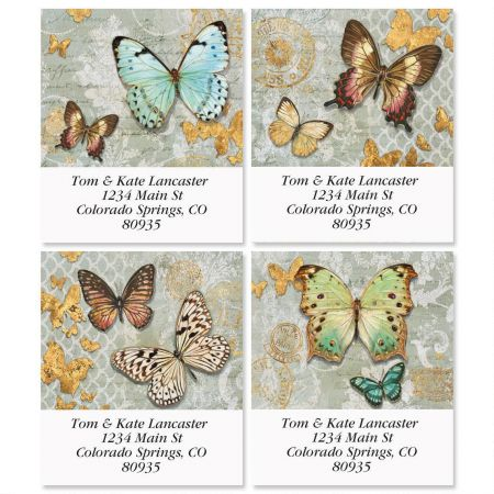 Gilded Butterflies Select Address Labels  (4 Designs)