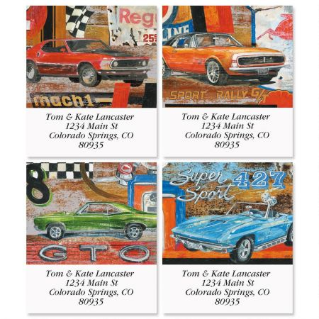 Muscle Cars Select Address Labels  (4 Designs)