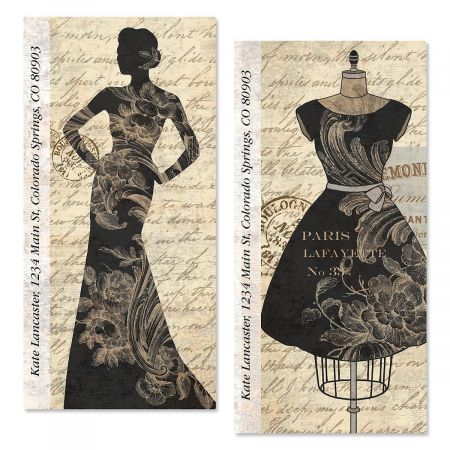 Newsprint Oversized Address Labels  (2 Designs)