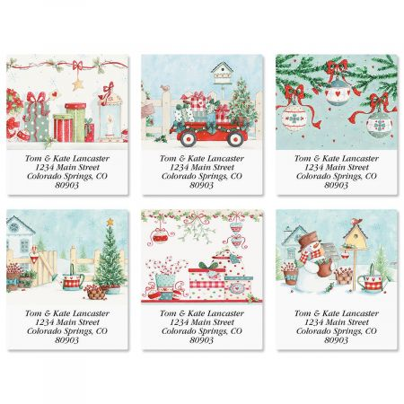 Blue Christmas Select Address Labels  (6 Designs)