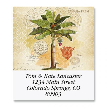 Palm Trees and Pineapples Select Address Labels  (6 Designs)
