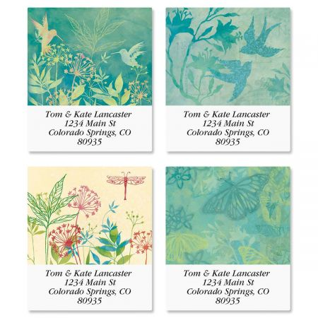 Nature Song Select Address Labels  (4 Designs)