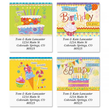 Birthday Sweets Select Address Labels  (4 Designs)