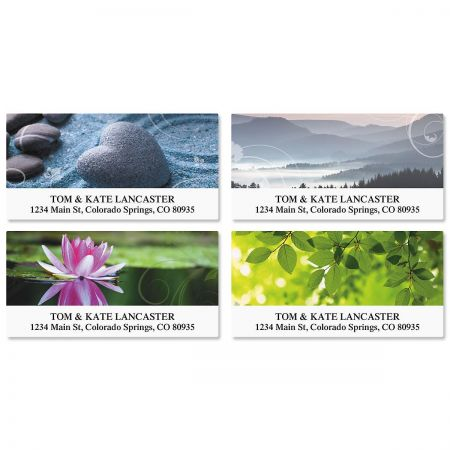 Peaceful Deluxe Address Labels  (4 Designs)