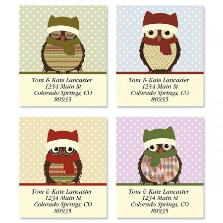 Happy Owlidays Select Address Labels  (4 Designs)