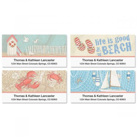 Coastal Deluxe Address Labels