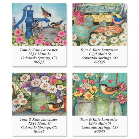 Garden Signs Select Address Labels  (4 Designs)