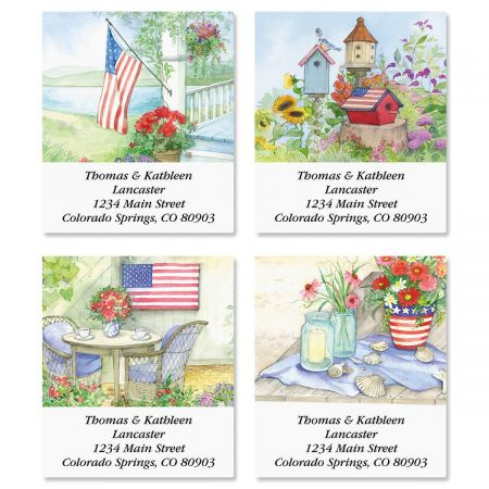 Land of Liberty Select Address Labels  (4 Designs)