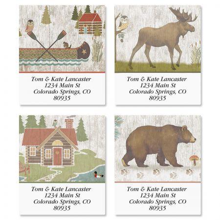 Woodland Lodge Select Address Labels  (4 Designs)