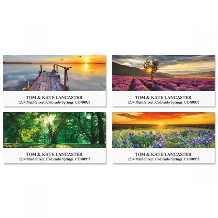 Art of Nature Deluxe Address Labels  (4 Designs)