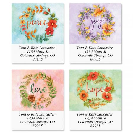 Wreaths Select Address Labels  (4 Designs)