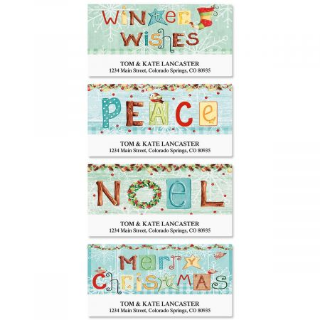 Winter Wishes Deluxe Address Labels (4 Designs)