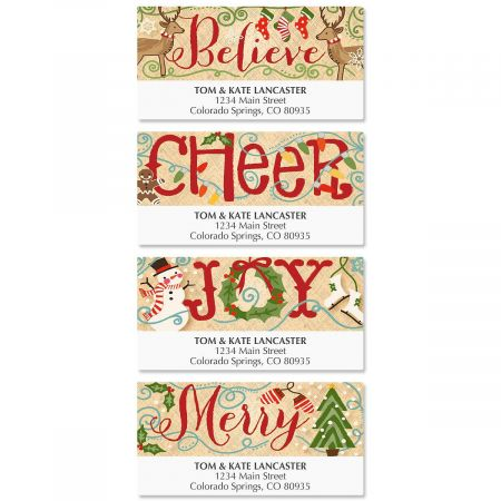 Country Christmas Deluxe Address Labels  (4 Designs)