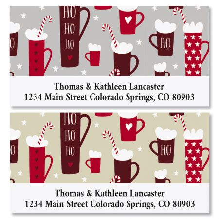 Hot Cocoa Deluxe Christmas Address Labels (2 Designs)