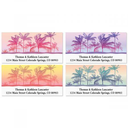 Tropical Palms Deluxe Address Labels