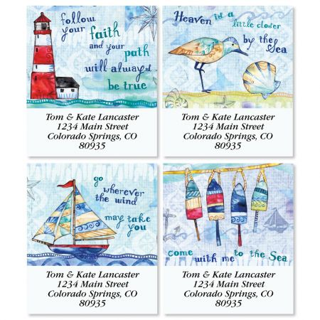053b335dc2a7f8 Color My Sea Select Return Address Labels (4 Designs)