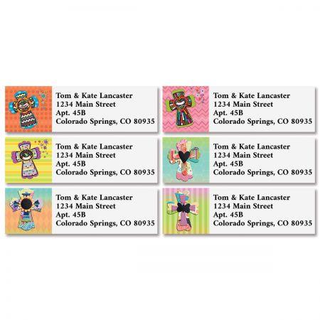 Colorful Crosses Classic Address Labels (4 Designs)