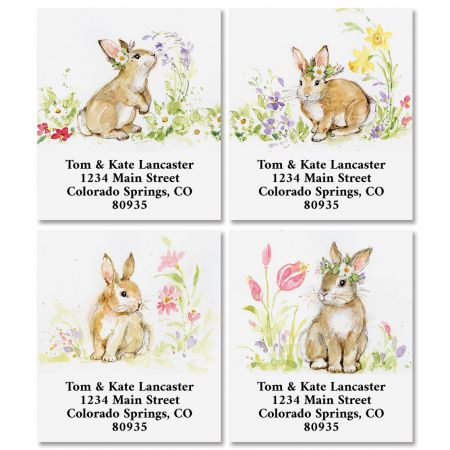 Brown Bunny Select Address Labels (4 Designs)