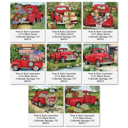 Trucking Along Select Address Labels (8 Designs)