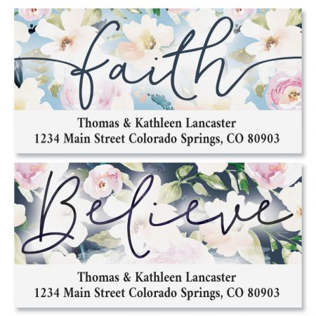 Floral Faith Deluxe Address Labels (2 Designs)