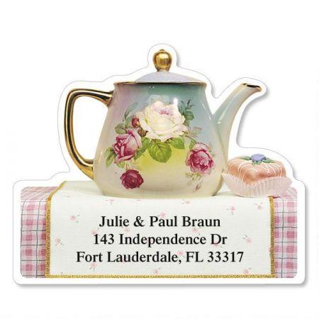 Teapots Diecut Address Labels  (6 designs)