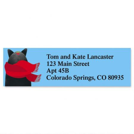 Linnea's Year Round Cats Classic Address Labels  (12 designs)