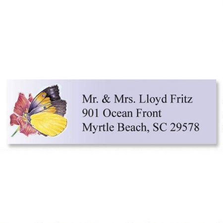 Brilliant Butterflies Classic Address Labels  (6 designs)