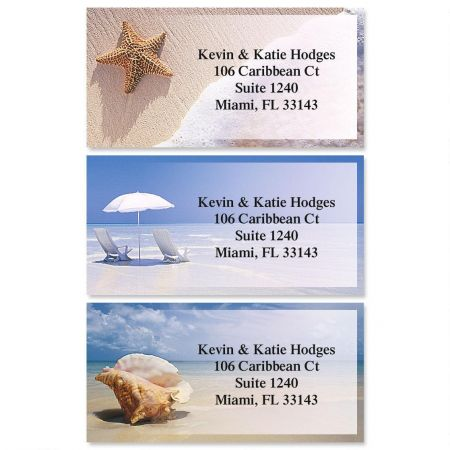 On The Shore Border Address Labels  (3 designs)