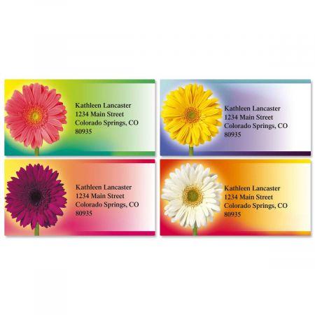 Illuminated Petals Address Labels  (4 Designs)