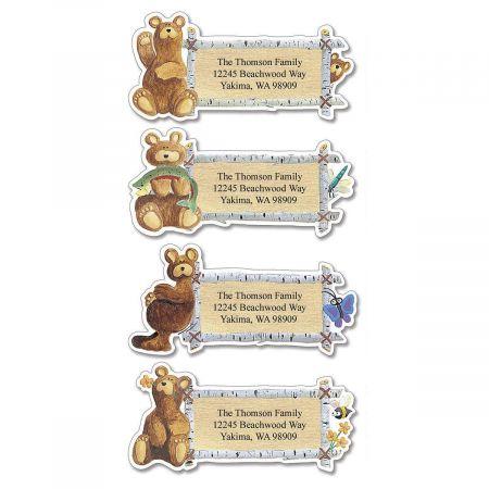 Bear Lodge Buddies  Diecut Address Labels  (4 designs)