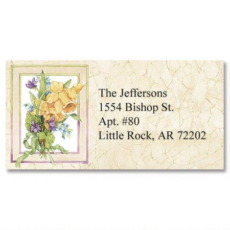 Sandi's Heirloom Bouquets Border Address Labels  (6 designs)