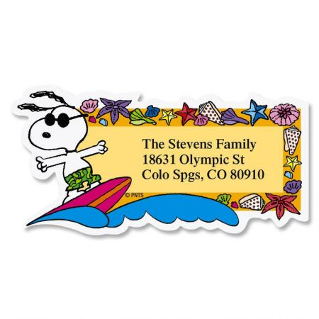 Snoopy™ Seasons of Fun Diecut Address Labels  (12 Designs)