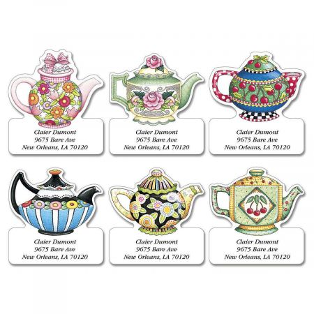 Mary Engelbreit® Teatime With Mary Diecut Address Label  (6 designs)