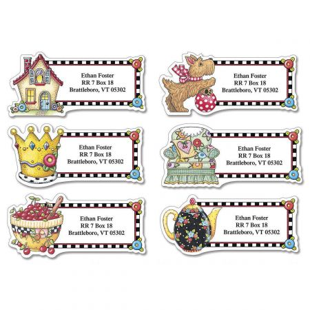 Mary Engelbreit® Very Mary Diecut Address Labels  (6 designs)