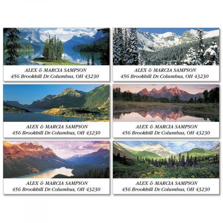 Majestic Peaks Deluxe Address Labels  (6 Designs)