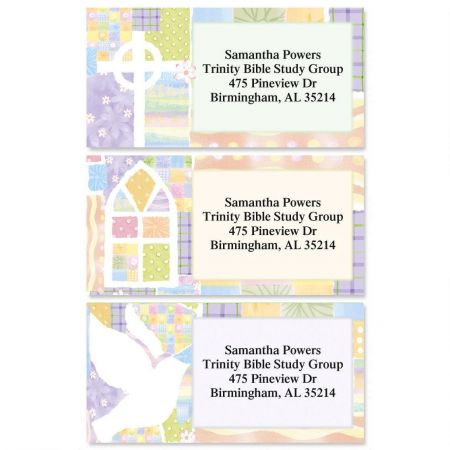 Faith Reflections Border Address Labels  (3 Designs)
