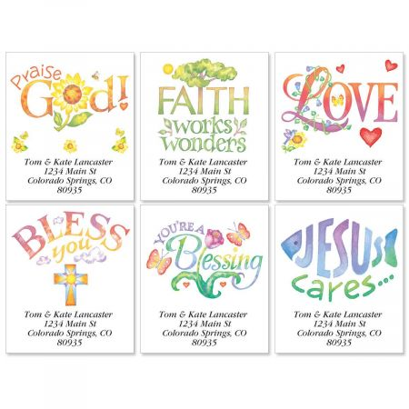 Faithful Expressions Select Address Labels  (6 Designs)