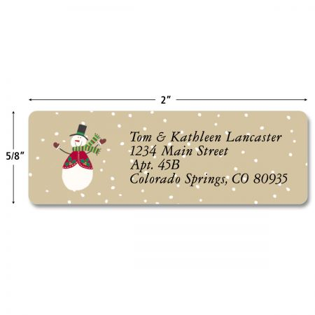 Let It Snow Classic Address Labels  (4 designs)