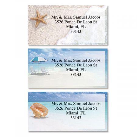 Calm Seas Border Address Labels  (3 Designs)