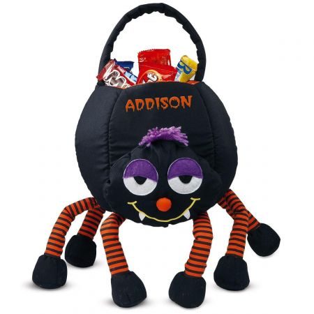 Personalized Spider Halloween Treat Basket